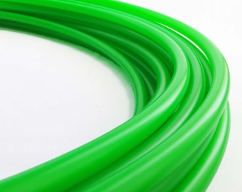 "UV Green 11/16"" Polypro Hula Hoop//Light Weight//Trick Hoop//Dance Hoop"