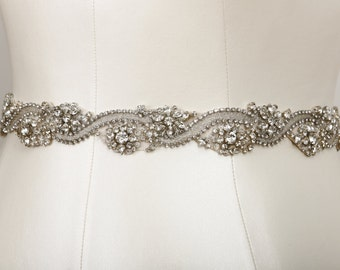 Hannah Crystal Bridal Belt as seen in D Weddings