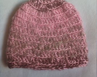 half price skull hat in shades of pink and grey