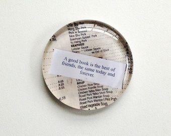 Fortune Paperweight (Good Book)-  or create your own, too