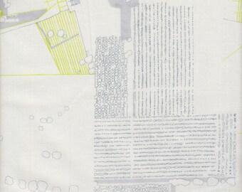 Robert Kaufman Carolyn Friedlander Friedlander Plans in Silver - Half Yard