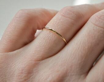 Skinny gold ring Etsy