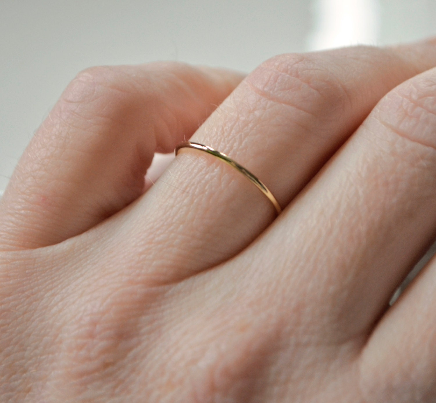 stacking filled ring minimalist listing plain fullxfull il gift ringgold for gold her thin rings ringthin