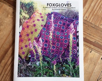 Foxgloves - Printed Crochet Pattern Booklet + Free patterns