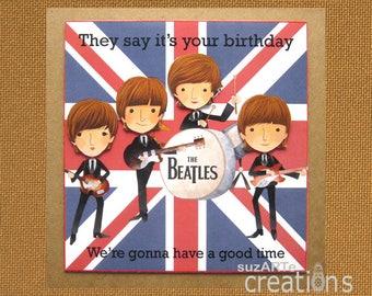 The Beetles Birthday card