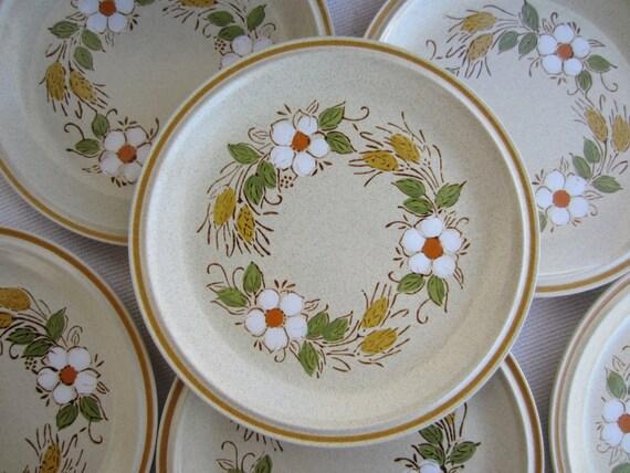 Vintage Prairie Flowers Hearthside Stoneware Garden Festival