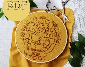 Embroidery Pattern PDF Beginner | DIY Hoop Art Stitch Pattern | Embroidery Hoop Art PDF | Instant Download