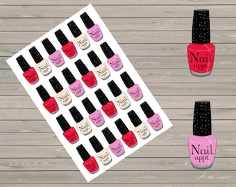 Nail Appointment, Fits Erin Condren Planner & Other Planners, Reminder Stickers, Stickers, Functional Stickers, Reminder Stickers