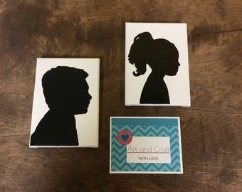 Custom Silhouettes on canvas