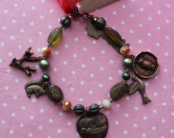 I Love Spring Charm Bracelet