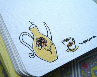 Tea Personalized Stationery Gift Set PLUS Stickers