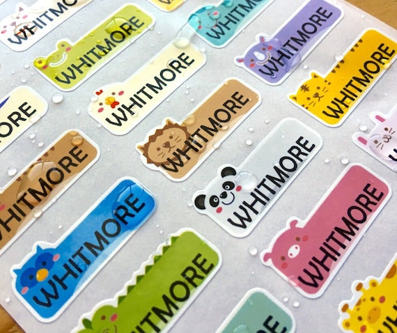 81 waterproof name stickers daycare labels cute animal design kids labels personalized name labels customized labels name stickers from hanprinting on