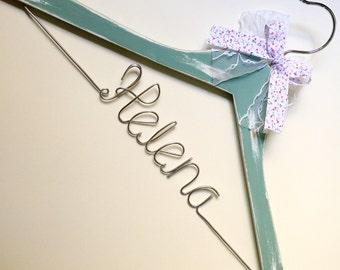 Vintage wedding, Personalized Custom Bridal, Brides Hanger, Bride, Name Hanger, Wedding Hanger, Personalized Bridal Gif