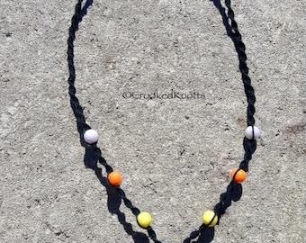 Hemp Candy Corn Pendant Necklace