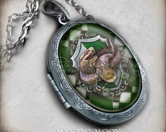 Locket Potter Necklace / jewelry Cunning /Antique Locket / Nerd Gifts / Nerdy / Wizard / Witch / Magic / Magical / Wizardry / School of / HP