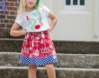 Making the Grade  Skirt ( 18 mos, 24 mos,  2T, 3T, 4T, 5 ,6, 7, 8, 10)