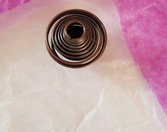 14 X 16 mm antique copper BEAD CAGE. (8130056)
