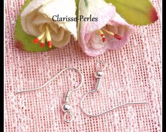 x100 Earring Hooks, French Hooks 18mm 0,8mm, Silver/ Bronze/ Copper/ Gunmetal/ Gold