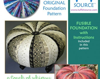 """Pieced 18"""" Tuffet Pattern with Fusible Foundation included by Tuffet Source"""
