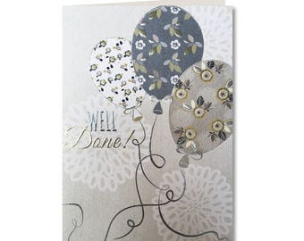 30% off! Entwine Collection - Well Done Card - Balloons - Congratulations - Greeting Card  Well Done - EN65