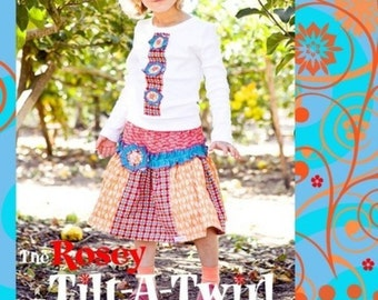 INSTANT DOWNLOAD Girls Dress PDF Sewing Pattern sizes 12m to 10 The Rosey Tilt-A-Twirl Set by ZozoBugBaby