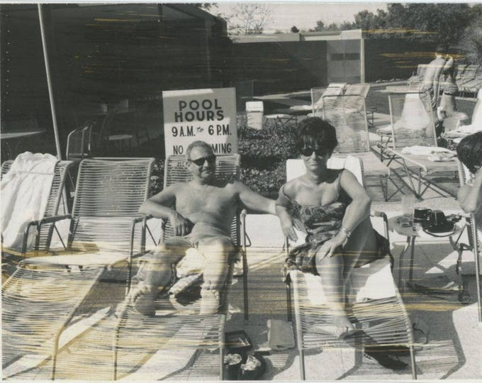 Vintage Polaroid Snapshot Photo: Pool Hours [81644]