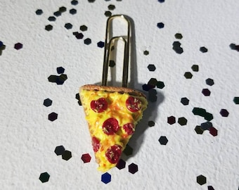 Pizza slice, Pepperoni Pizza, Pizza party, food, polymer clay