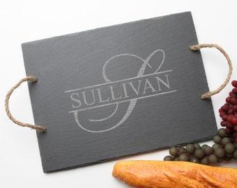 Personalized Slate Cheese Boards, Custom Engraved Cheese Board, Personalized Slate, Monogram, Engraved Wedding Gift, Housewarming Gift D25