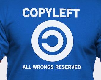 Copyleft All Wrongs Reserved T-Shirt