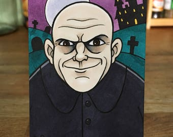 Uncle Fester Original Sketch Card
