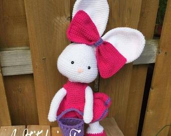 Crochet stuffed bunny, stuffed Easter bunny, Easter stuffed animal, crochet bunny