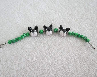 Boston Terrier Braclets Handmade Polymer Clay Made to Order Any Breed by Shannon Ivins