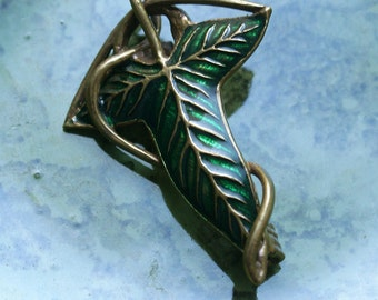 Brooch leaf Lorien Amulet Fellowship of the Ring Elven jewelry Elves brooch Barette Pin for scarf or shawl sweater clip brooch