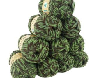 10 x 50g (= 500g) wool milly 50 g #112 deep Forest, knitted felt 100% virgin wool