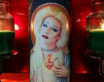 Hedwig Celebrity Saint Prayer Candle - Angry Inch - John Cameron Mitchell