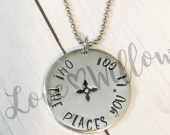 Hand Stamped Graduation Necklace.  Inspiration. Class of 2018. Senior Gift.