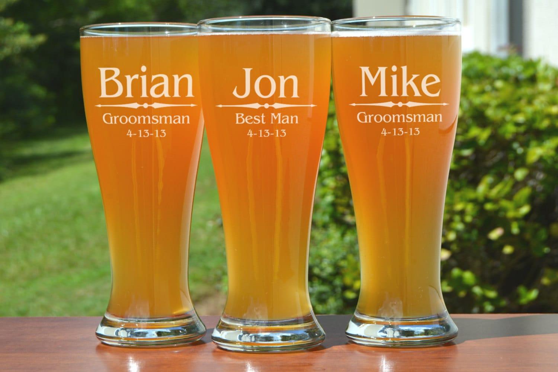 Brand-new Personalized Groomsmen Gifts, 8 Groomsmen Beer Glasses, Wedding  MV99