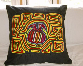 18 x 18 black  embellished pillow cover 215