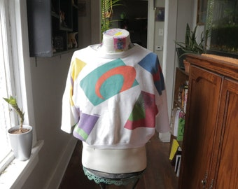 Vintage ESPRIT Sport Cropped Short Sleeved Sweatshirt
