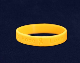 Adult Size Gold Silicone Bracelet (RE-SILB-11)