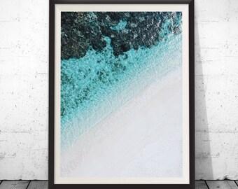 Beach Photography,  Beach Wall Art ,Ocean Print, Coastal Wall Decor, Beach, Digital Download, Tropical Beach, Prints, Azure Coast, Australia