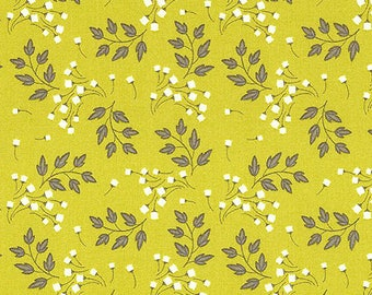 fabric patchwork green chartreuse WILDFLOWERS Camelot fabrics