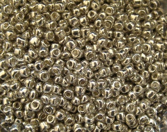 Silver 10/0 Seed Bead Mix 15 grams