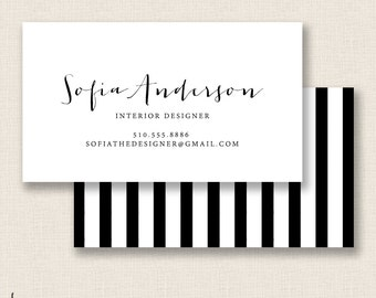 SIMPLE & MODERN - Double Sided - DIY Printable Business Card Template
