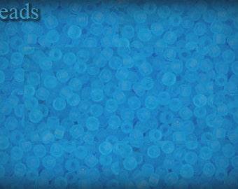 11/0 TOHO seed beads 10g Toho beads 11/0 seed beads Aquamarine 11-3F Blue Frosted Matte beads last