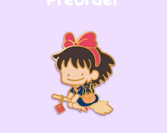 PREORDER KIKI Ditto x Anime Movie Enamel Pin [Studio Ghibli Kiki's Delivery Service Witch Broomstick Hayao Miyazaki Film Pokemon Parody]