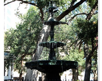 Bienville Square Fountain Photograph