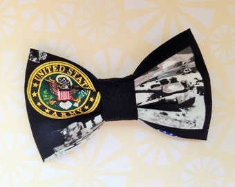 Army bow tie etsy us army premade bow ties clip on bow tie for boys teens men women ccuart Choice Image