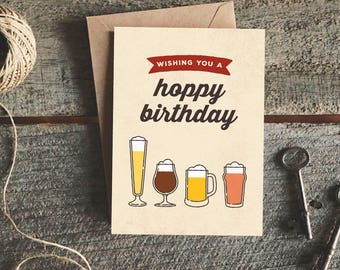 Birthday Wishes Male Beer ~ Fiance birthday card etsy