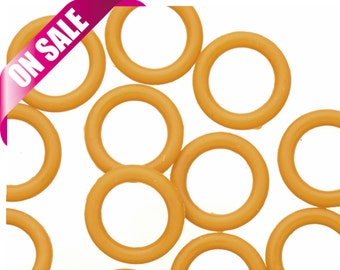 25Pcs coffee O-Ring for Licorice Leather 2x12mm